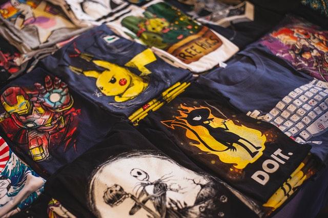 koszulki składanie
